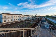 Der Bahnhof von Nezhin Stockfotos