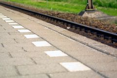 An der Bahnstation Lizenzfreies Stockfoto