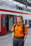 An der Bahnstation Lizenzfreie Stockbilder