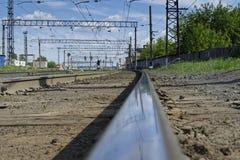 Der Bahnweg Stockfotos