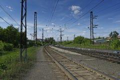 Der Bahnweg Lizenzfreie Stockfotos