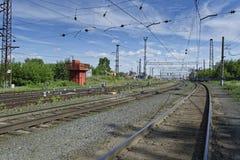 Der Bahnweg Lizenzfreie Stockbilder