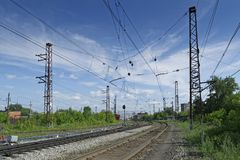 Der Bahnweg Stockfoto