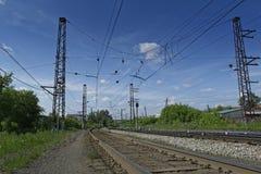 Der Bahnweg Lizenzfreies Stockfoto