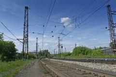 Der Bahnweg Lizenzfreies Stockbild