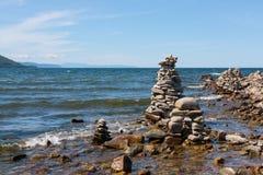 Der Baikalsee in Russland Stockbild