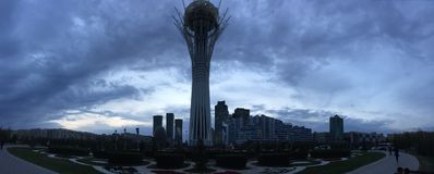 Der Baiterek-Turm stockfotos