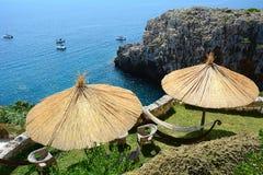 Der Balkon auf dem Meer lizenzfreies stockfoto