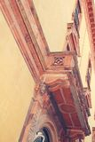 Der Balkon des Palastes Dach des Gebäudes lizenzfreie stockbilder