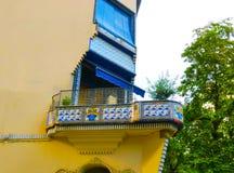 Der Balkon in Girona, Katalonien, Spanien Stockbilder