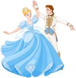 Der Ball-Tanz von Aschenputtel und von Prinzen lizenzfreie abbildung