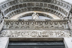 Der Baptistery von San Giovanni, Pisa (Detail) stockbilder