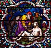 Der barmherzige Samariter Stockbild
