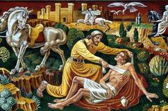 Der barmherzige Samariter Stockfotos
