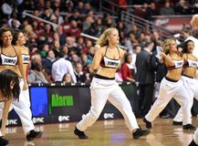 Der Basketball 2013 NCAA-Männer - Cheerleader oder Tänzer Stockbild