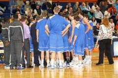 Der Basketball Männer College NCAA Div. III Stockbild