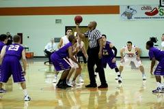 Der Basketball Männer College NCAA Div. III Stockfotos