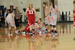 Der Basketball NCAA-Frauen Stockfotografie
