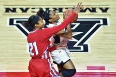 2015 der Basketball NCAA-Frauen - Tempel gegen Staat Delaware Stockfotografie