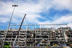 Der Bau der Bohrinsel Stockfoto
