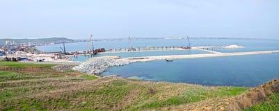 Der Bau der Brücke Kerch Lizenzfreie Stockfotografie