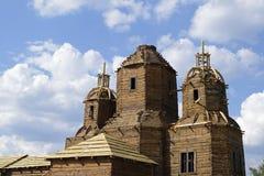 Der Bau der christlichen Kirche in den alten Traditionen lizenzfreies stockbild