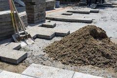 Der Bau des Bodens Stockfotos