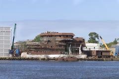 Der Bau des Schiffs Stockfotografie