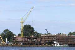 Der Bau des Schiffs Lizenzfreie Stockbilder