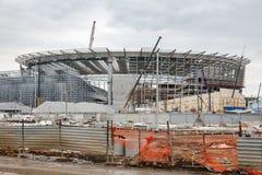 Der Bau des Stadions für den Weltcup Stockfotos