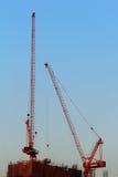 Der Bau von Hochhäusern in der Stadt. Lizenzfreie Stockbilder