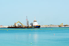 Der Bau von 210 Meter Dubai-Auge Lizenzfreies Stockfoto