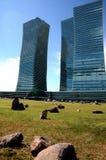 Der Bau von modernen Gebäuden in Astana Stockfotografie