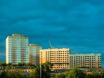 Der Bau von neuen Wohngebäuden Lizenzfreie Stockfotos