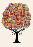 Der Baum der Blumen. Stock Abbildung