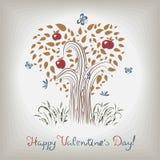 Der Baum des eleganten Valentinsgrußes Vektor Abbildung