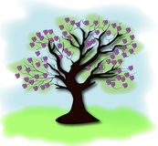 Der Baum wird auf einem weißen Hintergrund getrennt Stockfoto