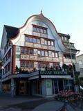 Der Bazar Hersche-Speicher in Appenzell-Stadt, die Schweiz Lizenzfreies Stockbild