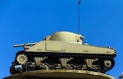 Der Behälter auf dem Turm amerikanisches M4 Sherman Latrun, Israel Lizenzfreies Stockbild
