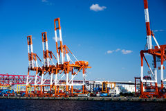 Der Behälterkran in Osaka Port Stockfoto