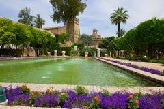 Der berühmte Alcazar in Cordoba, Spanien Lizenzfreies Stockfoto