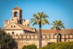 Der berühmte Alcazar mit schönem Garten in Cordoba, Spanien Stockfotografie