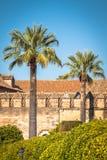 Der berühmte Alcazar mit schönem Garten in Cordoba, Spanien Stockfotos