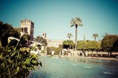 Der berühmte Alcazar mit schönem Garten in Cordoba, Spanien Lizenzfreies Stockfoto