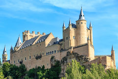 Der berühmte Alcazar von Segovia Stockfotografie