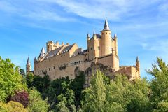 Der berühmte Alcazar von Segovia Lizenzfreie Stockfotos
