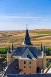 Der berühmte Alcazar von Segovia, Kastilien y Leon Stockbild