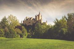 Der berühmte Alcazar von Segovia, Kastilien y Leon, Spanien Stockbilder
