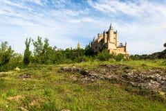 Der berühmte Alcazar von Segovia, Kastilien y Leon, Spanien Stockfotografie