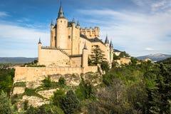 Der berühmte Alcazar von Segovia, Kastilien y Leon, Spanien Lizenzfreies Stockfoto